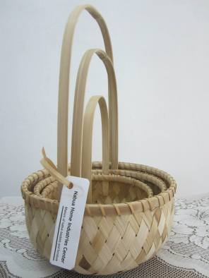 Bamboo flower basket. Set of three.