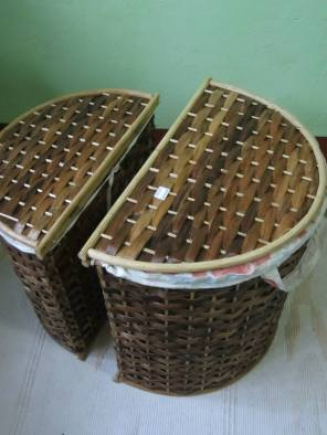Moon Hampers - Set of Two Materials: Bamboo Spokes, Manila Hemp, Rattan Design: Lydia Docot This sample's reserved by Patrick Bilog