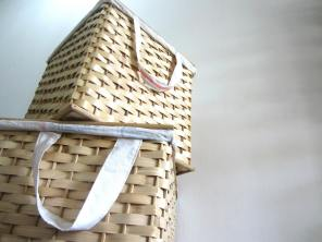Bamboo Laundry Hampers - Set of Three. Design: Lydia Docot This first sample's reserved by Auntie Pancy. Julie Fuentes