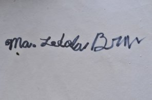The name I can no longer relate to. Me practicing longhand writing at age 7.